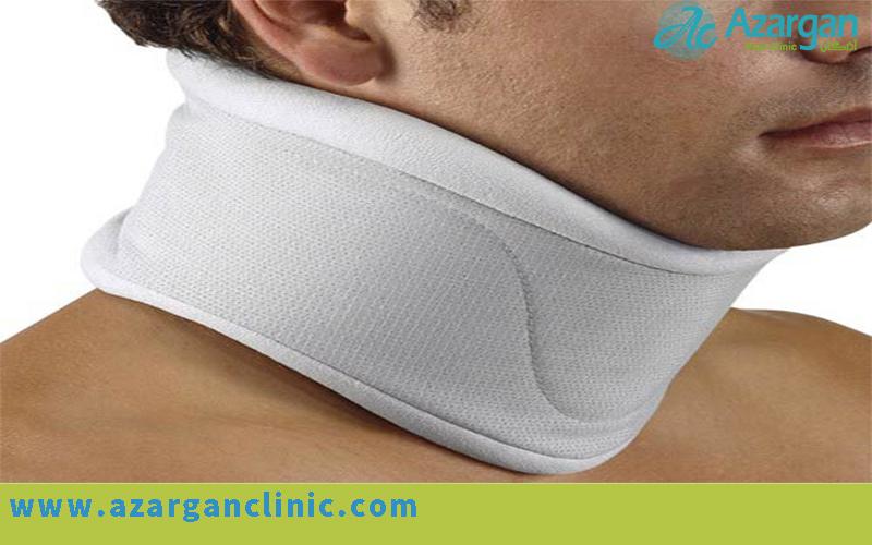 استفاده از بریس یا گردن بند طبی دیسک گردن