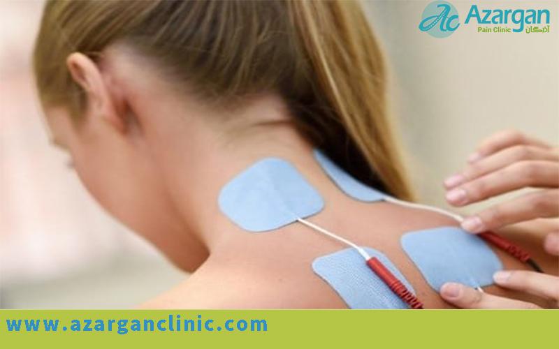 تحریک الکتریکی برای درمان فیزیوتراپی دیسک گردن